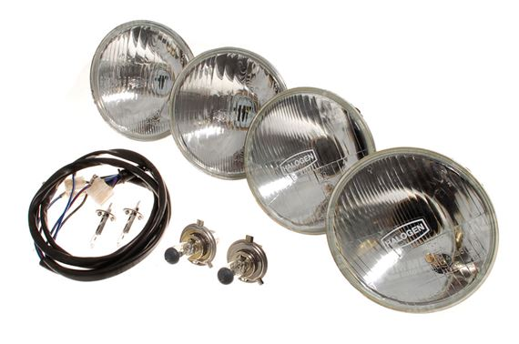 Halogen Headlamp Kit of 4 - Inner and Outer - Including Bulbs - RHD - RS1742RHD