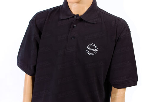 Blue Polo Shirt - Triumph Laurel Logo