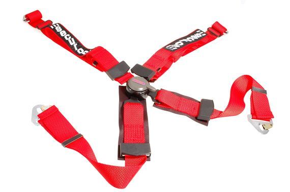 Securon 4 Point Competition Type Harness - Each - Red