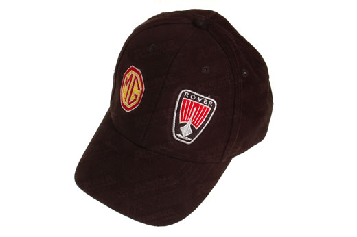 Black Peak Cap with MG Rover Logo