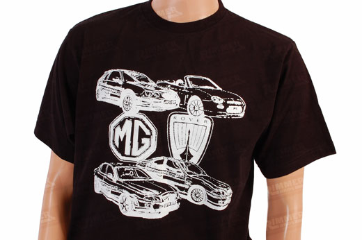 T Shirt - Black with White MG Design