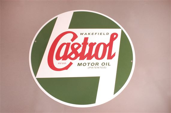 Castrol Classic Large Round Sign 400MM Metal - RX1802