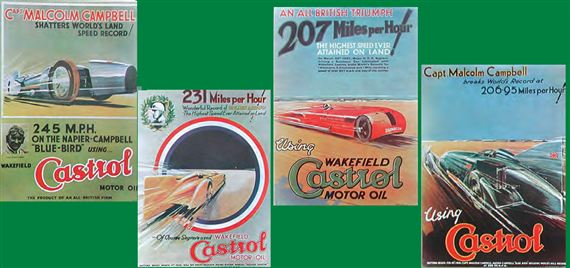 Castrol Classic Record Breaker Poster Set of 4 - RX1812