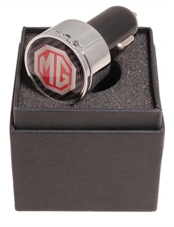 Plug In Twin USB Charger With MG Octagon Logo - RX1863