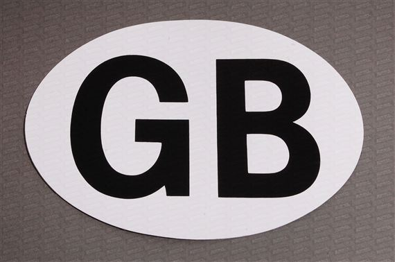 Magnetic Gb Badge For European Driving - RX4121