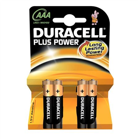 Duracell Batteries - Pack of 4 - AAA Power Plus
