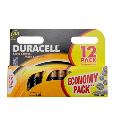 Duracell Batteries - Pack of 12 AA
