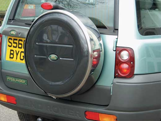 Lockable Stainless Steel Spare Wheel Cover - Genuine Land Rover