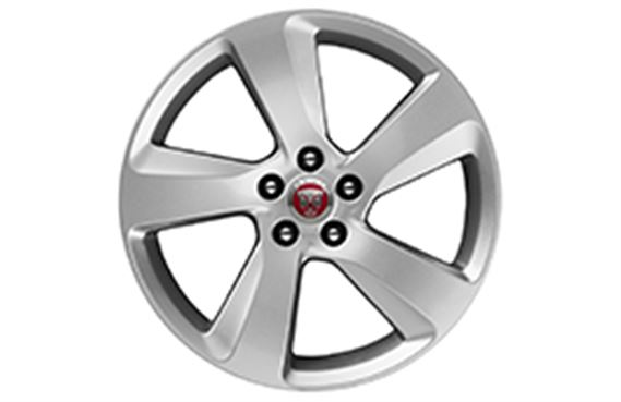 XF Alloy Wheel - 18 Inch Fan - 5 Spoke with Silver Finish - T2H2205 - Genuine Jaguar