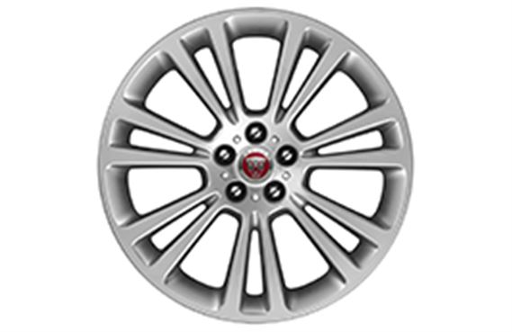 XF Alloy Wheel - 19 Inch Axis - 14 Spoke with Silver Finish - T2H2206 - Genuine Jaguar
