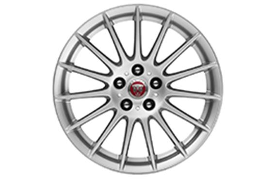 XF Alloy Wheel - 17 Inch Lightweight - 15 Spoke with Silver Finish - T2H4950 - Genuine Jaguar