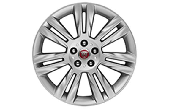XF Alloy Wheel - 18 Inch Chalice - 7 Twin Spoke with Silver Finish - T2H4952 - Genuine Jaguar