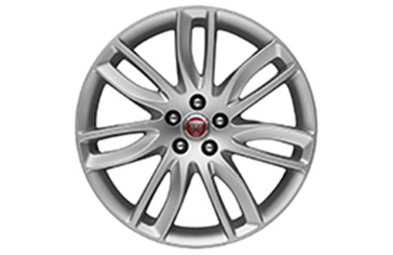 XF Alloy Wheel - 19 Inch Razor - 7 Twin Spoke with Silver Finish - T2H4954 - Genuine Jaguar