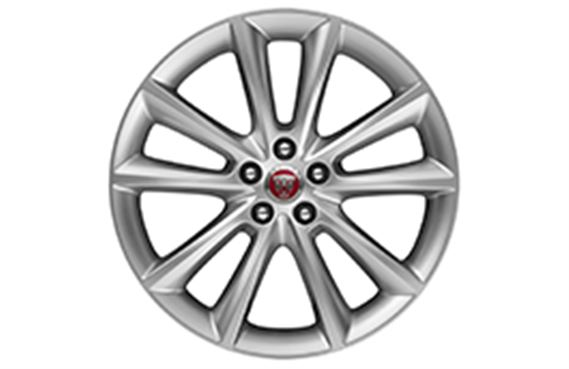 XF Alloy Wheel - 19 Inch Vortex - 10 Spoke with Silver Finish - T2H4955 - Genuine Jaguar