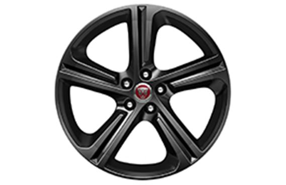 XF Alloy Wheel - 19 Inch Blade - 5 Spoke with Gloss Black Finish - T2H5941 - Genuine Jaguar