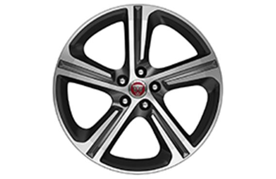 XF Alloy Wheel - 19 Inch Blade - 5 Spoke with Satin Grey & Diamond Turned Finish - T2H5943 - Genuine Jaguar
