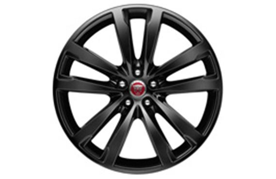 XF Alloy Wheel - 20 Inch Venom - 5 Twin Spoke with Gloss Black Finish - T2H5945 - Genuine Jaguar