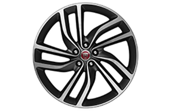 XF Alloy Wheel - 20 Inch Labyrinth - 5 Twin Spoke with Satin Dark Grey and Diamond Turned Finish - T2H5949 - Genuine Jaguar