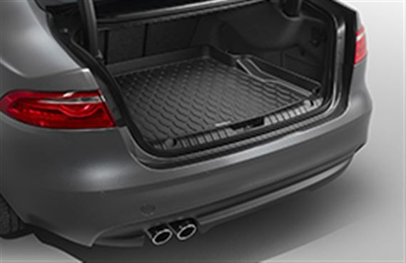 XF Luggage Compartment Rubber Liner - with Space Saver Spare Wheel - T2H6127 - Genuine Jaguar