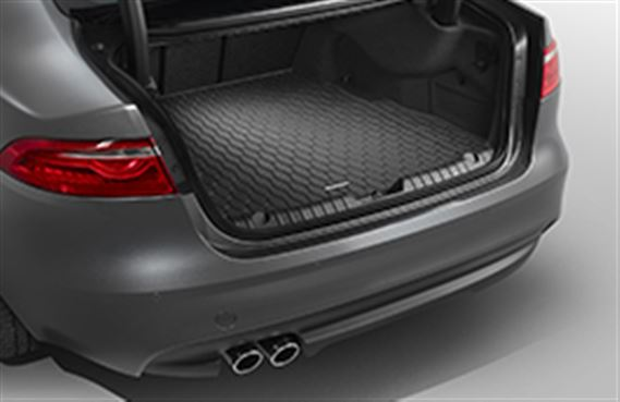 XF Luggage Compartment Rubber Mat - Space Saver Spare Wheel and Low Line Infotainment - T2H7744 - Genuine Jaguar