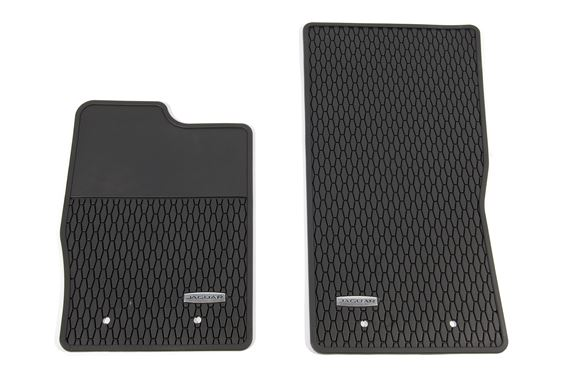 F-Type Rubber Floor Mats - RHD - T2R16568PVJ - Genuine Jaguar
