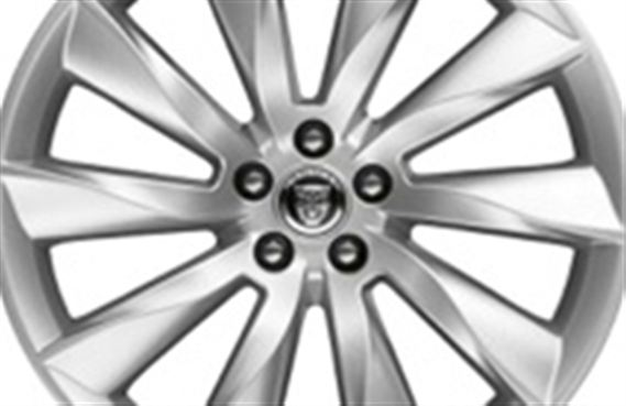 Rear Alloy Wheel - Single - Turbine 20 Inch Silver - T2R1866 - Genuine Jaguar