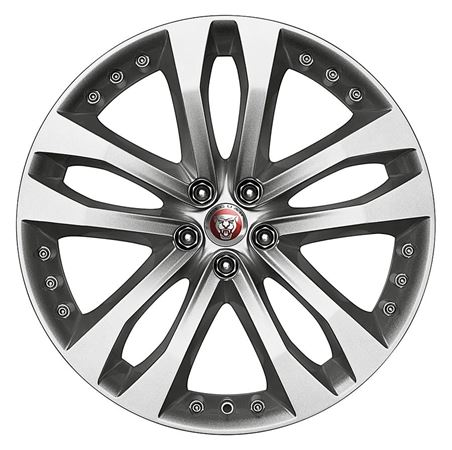 Front Alloy Wheel - Single - Tornado 20 Inch Silver - T2R3286 - Genuine Jaguar