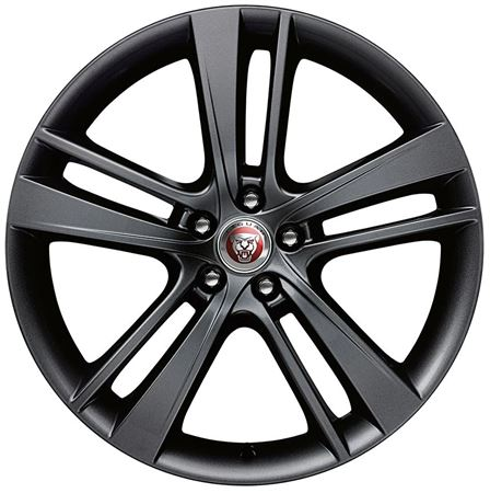 Front Alloy Wheel - Single - Cyclone 20 Inch Black - T2R4746 - Genuine Jaguar