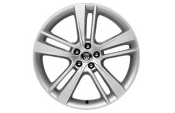 Rear Alloy Wheel - Single - Cyclone 20 Inch Silver - T2R4747 - Genuine Jaguar