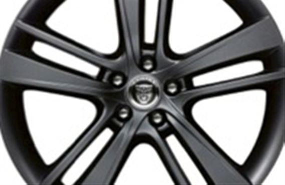 Rear Alloy Wheel - Single - Cyclone 20 Inch Black - T2R4748 - Genuine Jaguar