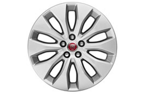 F-Pace Alloy Wheel - 18 Inch Aerodynamic - 10 Spoke - with Silver Finish - T4A2304 - Genuine Jaguar
