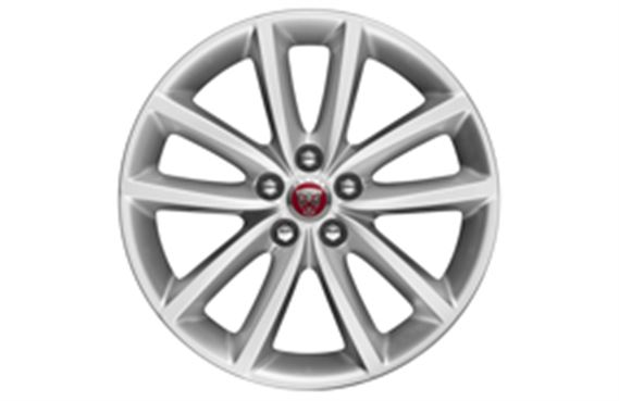 F-Pace Alloy Wheel - 18 Inch Vortex - 10 Spoke - with Silver Finish - T4A2305 - Genuine Jaguar