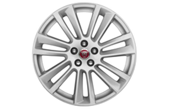 F-Pace Alloy Wheel - 19 Inch Razor - 7 Twin Spoke - with Silver Finish - T4A2306 - Genuine Jaguar
