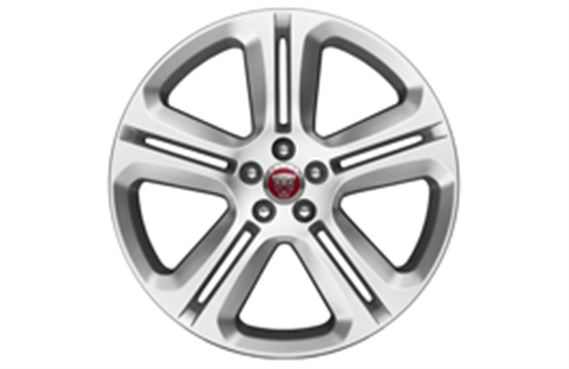 F-Pace Alloy Wheel - 20 Inch Templar - 5 Twin Spoke - with Silver Finish - T4A2308 - Genuine Jaguar