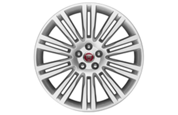 F-Pace Alloy Wheel - 20 Inch Matrix - 10 Twin Spoke - with Silver Finish - T4A2309 - Genuine Jaguar