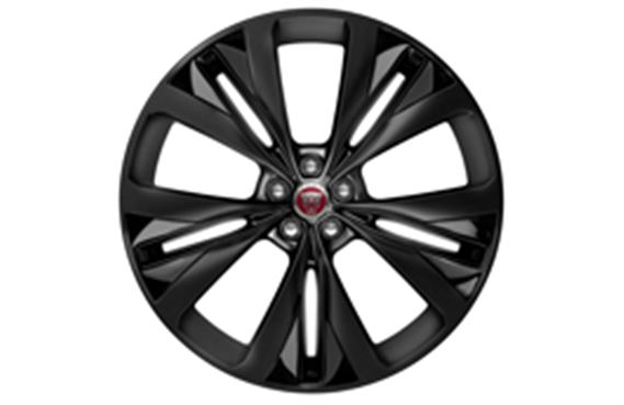 F-Pace Alloy Wheel - 22 Inch Double Helix - 15 Spoke - with Black Finish and Dark Inserts - T4A3797 - Genuine Jaguar