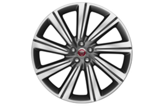 F-Pace Alloy Wheel - 22 Inch Turbine - 9 Spoke - with Grey Diamond Turned Finish - T4A3798 - Genuine Jaguar
