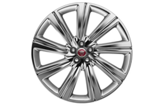 F-Pace Alloy Wheel - 22 Inch Turbine - 9 Spoke - with Polished Finish - T4A3799 - Genuine Jaguar