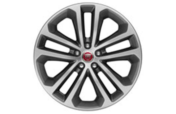 F-Pace Alloy Wheel - 19 Inch Bionic - 5 Twin Spoke - with Grey Diamond Turned Finish - T4A3800 - Genuine Jaguar