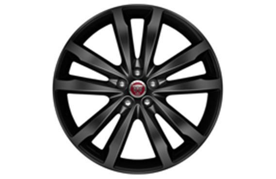 F-Pace Alloy Wheel - 20 Inch Venom - 5 Twin Spoke - with Black Finish - T4A3803 - Genuine Jaguar