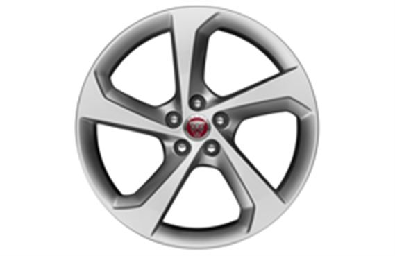 F-Pace Alloy Wheel - 19 Inch Fan - 5 Spoke - with Silver Finish - T4A3988 - Genuine Jaguar