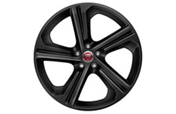 F-Pace Alloy Wheel - 20 Inch Blade - 5 Spoke - with Black Finish - T4A4438 - Genuine Jaguar