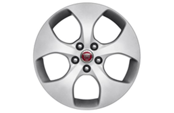 "Alloy Wheel - Single - 17"" Projector - 5 Spoke with Silver Finish - T4N1674 - Genuine Jaguar"