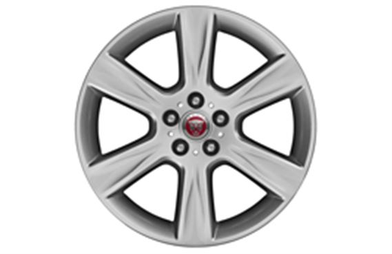 "Alloy Wheel - Single - 18"" Arm - 6 Spoke with Silver Finish - T4N1676 - Genuine Jaguar"
