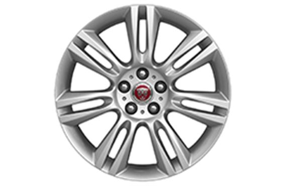 "Alloy Wheel - Single - 18"" Matrix - 7 Twin Spoke with Silver Finish - T4N1677 - Genuine Jaguar"