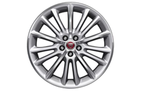 "Alloy Wheel - Single - 19"" Radiance - 15 Spoke with Silver Finish - T4N1679 - Genuine Jaguar"
