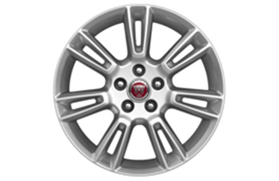 "Alloy Wheel - Single - 17"" Crux - 7 Twin Spoke with Silver Finish - T4N1683 - Genuine Jaguar"