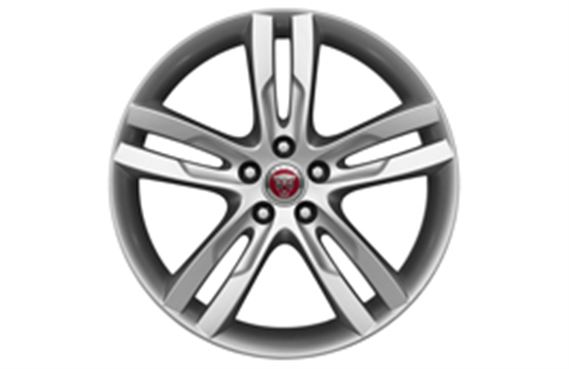 "Alloy Wheel - Single - 19"" Star - 5 Twin Spoke with Silver Finish - T4N1684 - Genuine Jaguar"