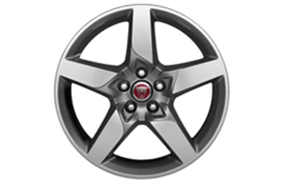 "Alloy Wheel - Single - 18"" Star - 5 Spoke with Silver Finish - T4N3699 - Genuine Jaguar"