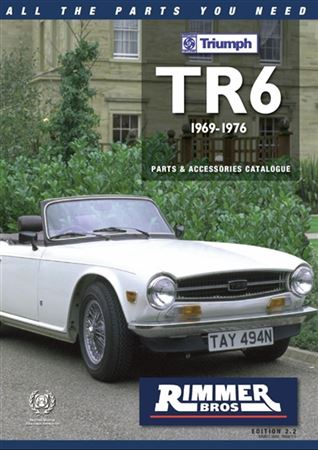 Rimmer Bros Triumph TR6 Catalogue (1969-1976) 210 Pages